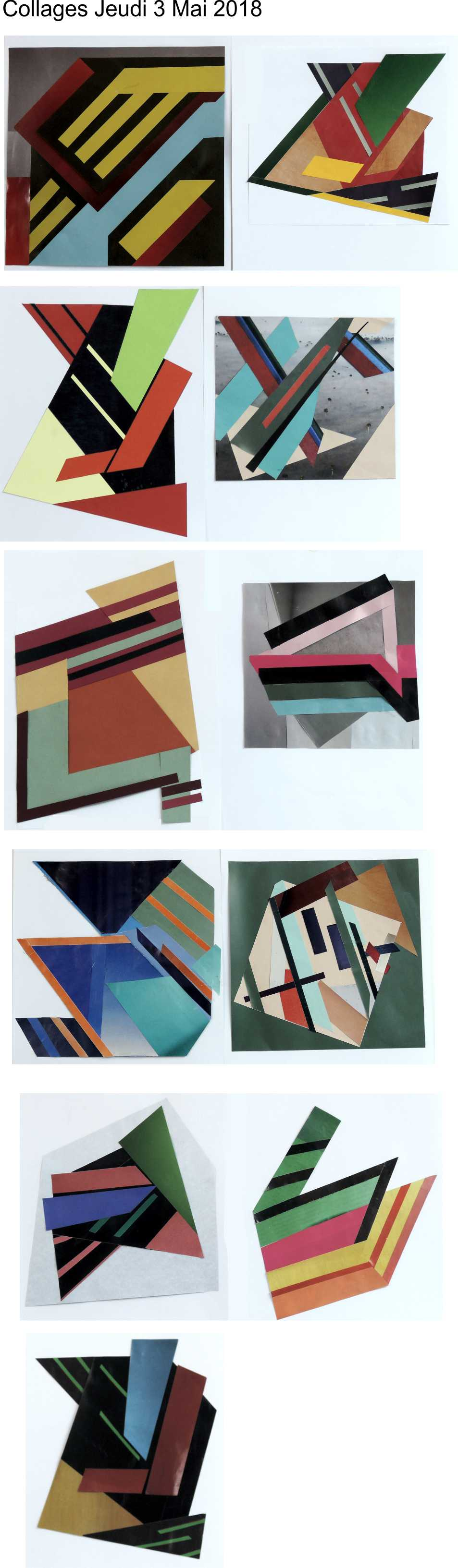 Collages Frank Stella jeudi 3 mai 2018