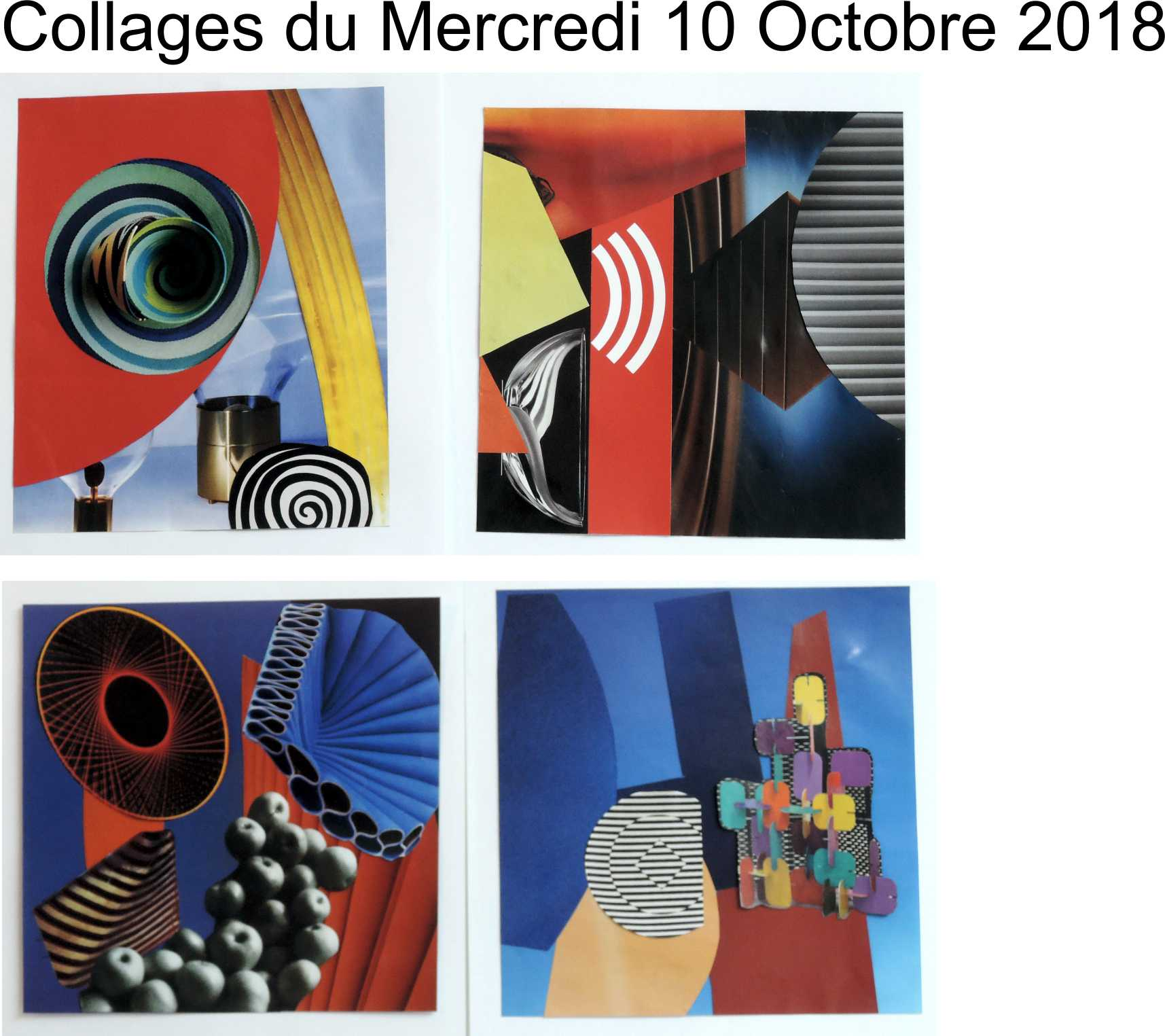 Collages Olivier Kenneybrew mercredi 10 octobre 2018