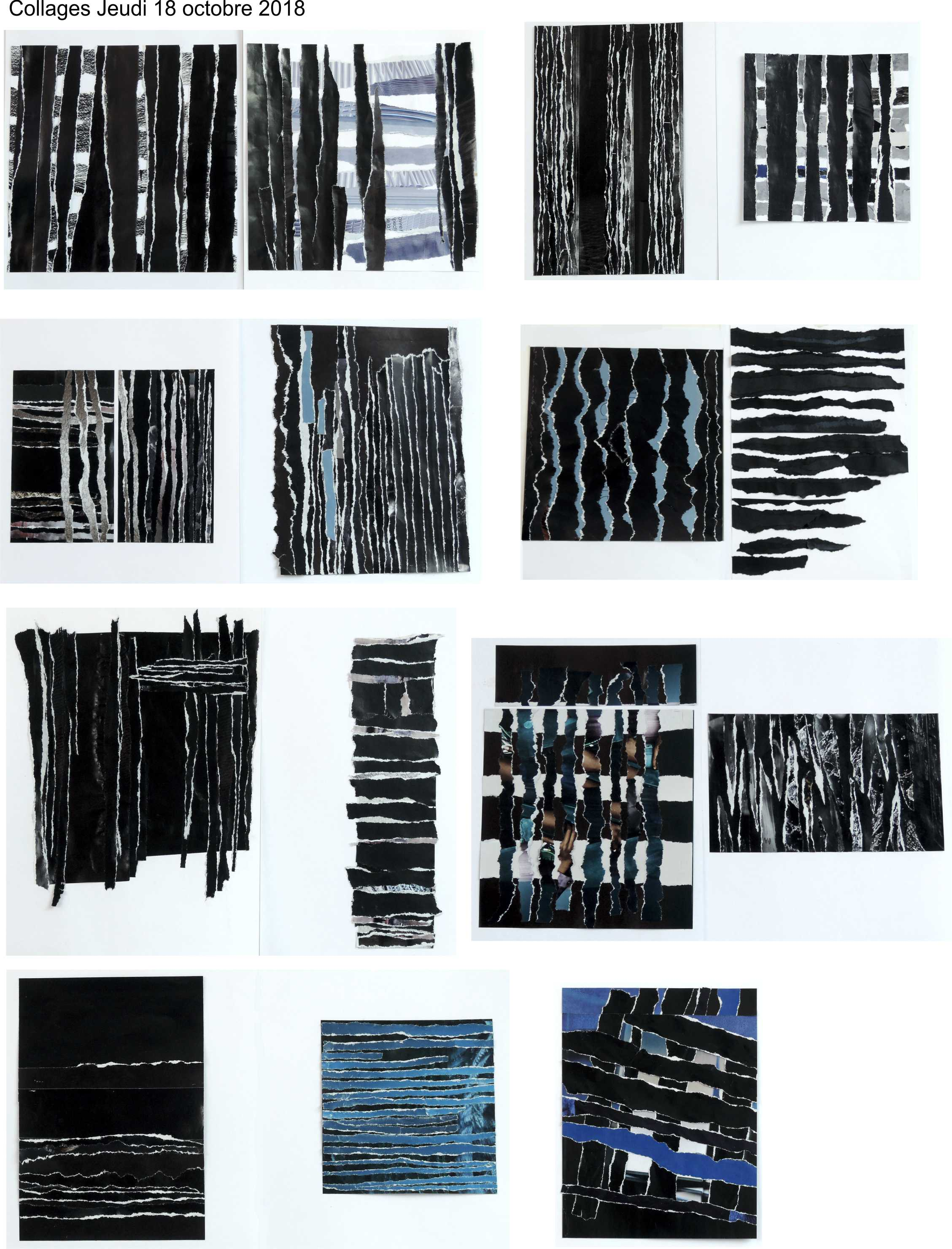 Collages Soulages Pierre jeudi 18 octobre 2018