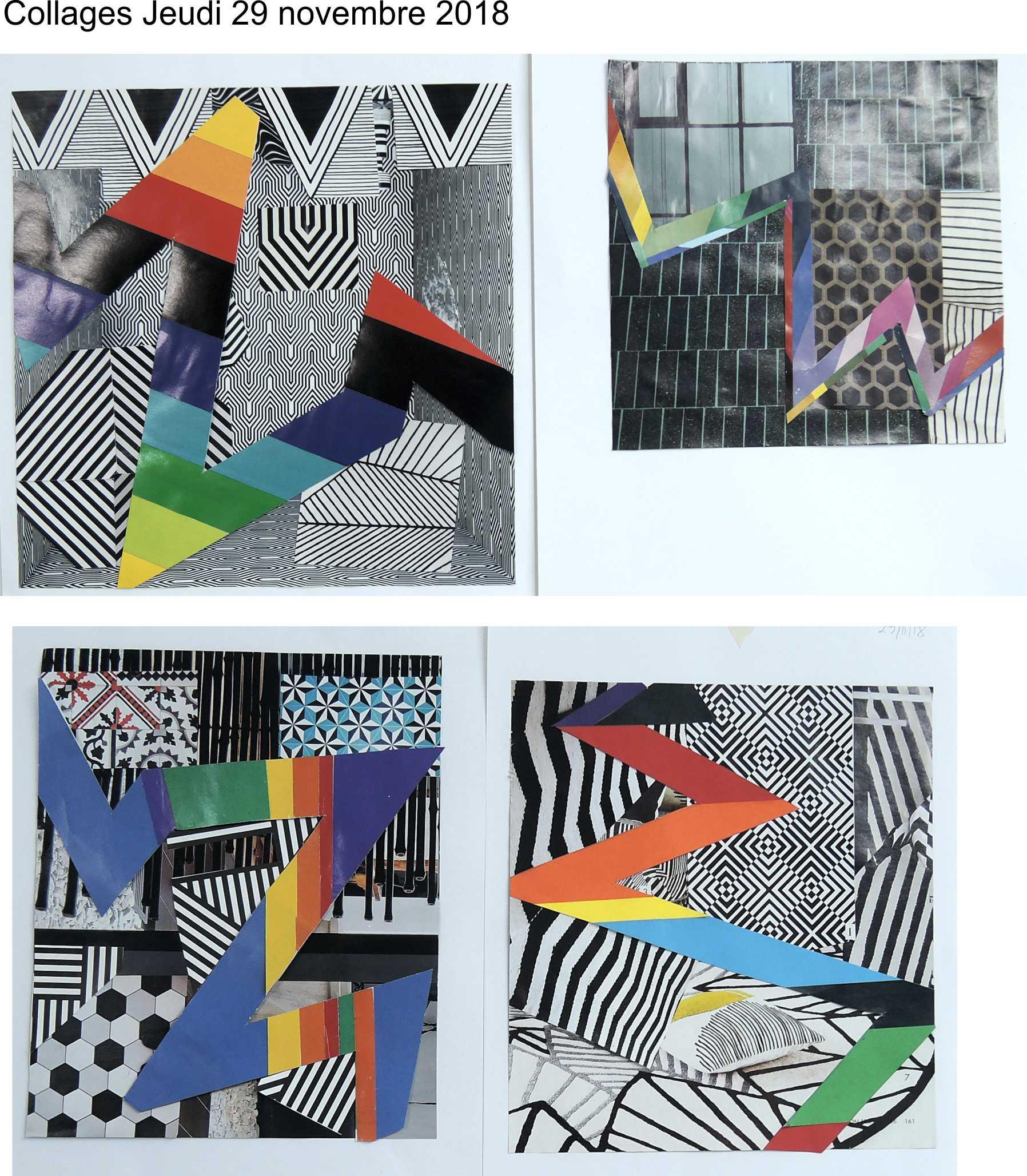 Collages Pantone jeudi 29 novembre 2018