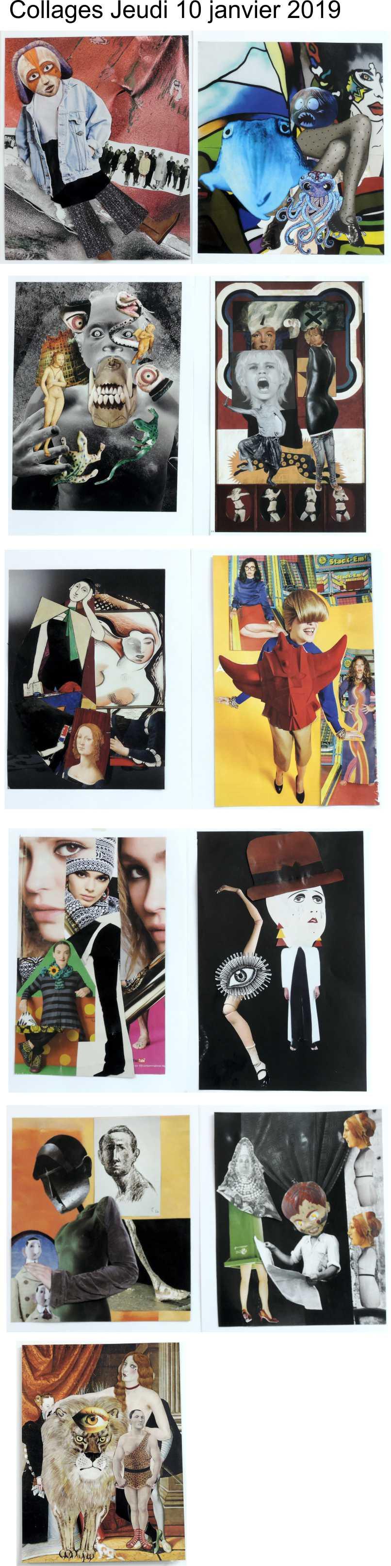 Collages jeudi 10 janvier 2019 Hannah Höch