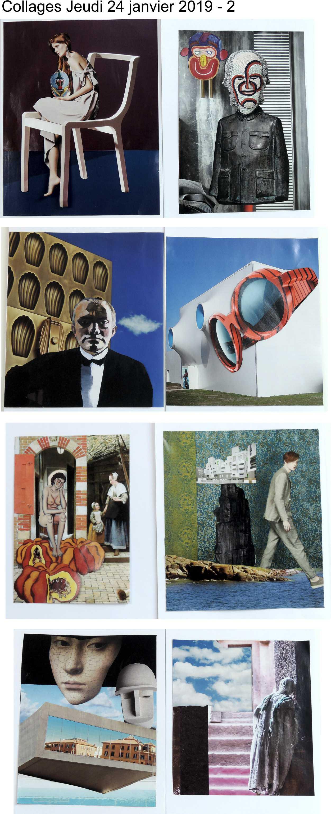 Collages jeudi 24 janvier 2019 Magritte 2