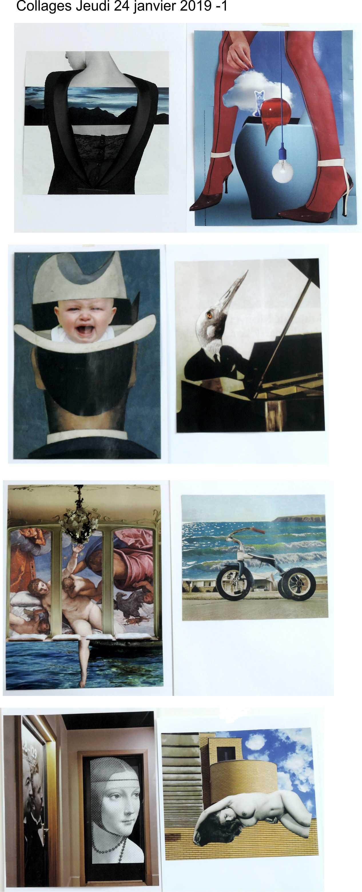 Collages jeudi 24 janvier 2019 Magritte