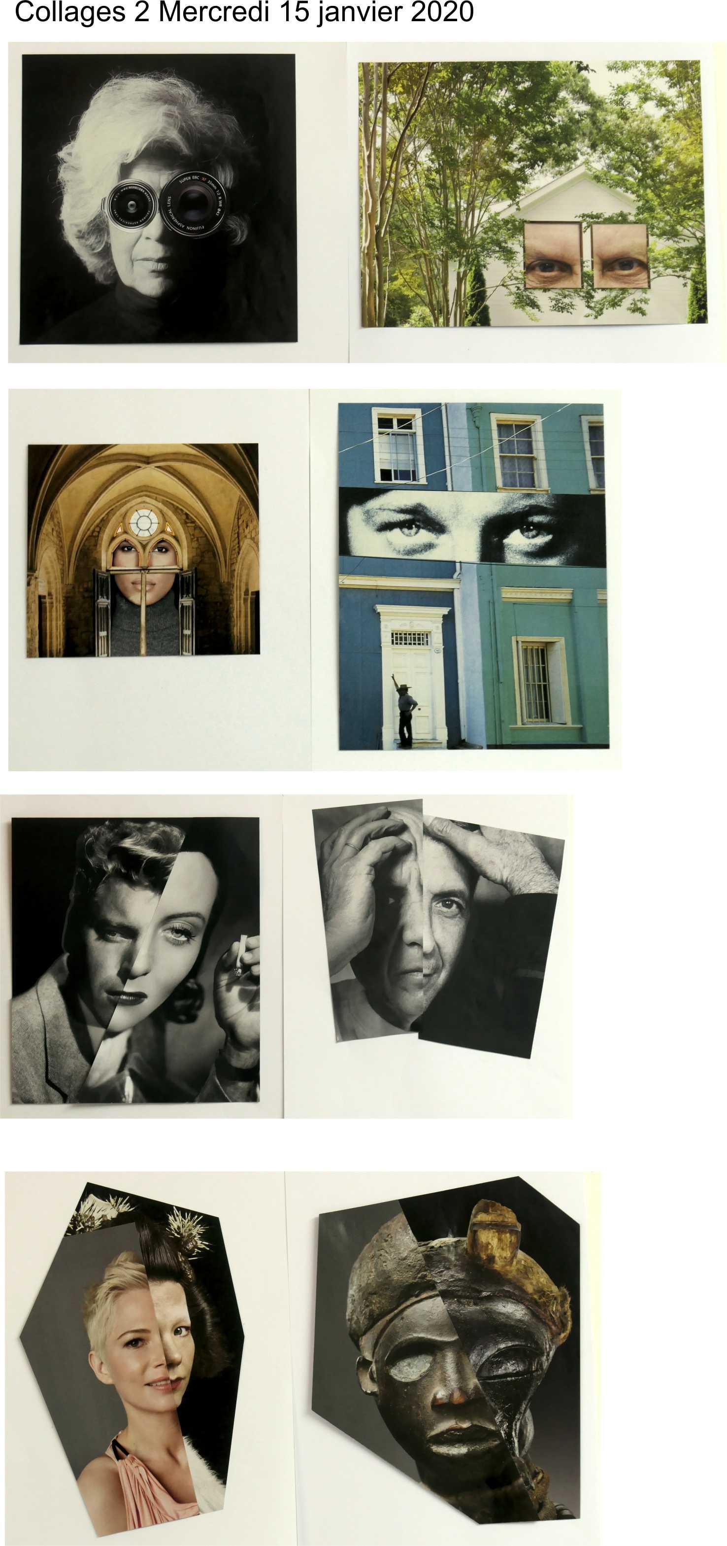 Collages 2 mercredi 15 janvier 2020