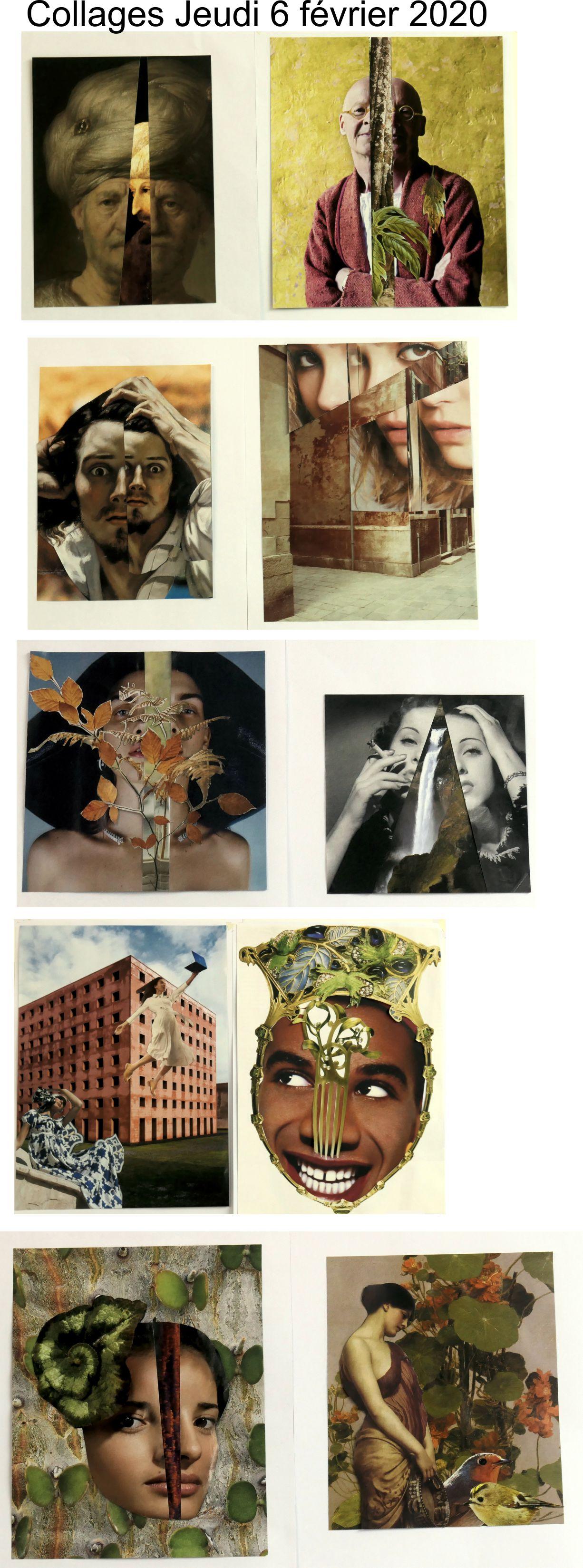 Collages jeudi 6 février 2020